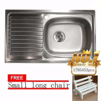JAPAN and USA best selling free Small long chair Stainless SteelKitchen Sink