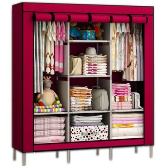 JAPAN AND USA TOP ONE Fashion Cloth Storage Wardrobe Red Price Philippines