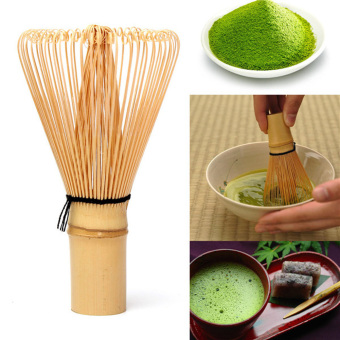 Japanese Ceremony Bamboo 64 Matcha Powder Whisk Green Tea Chasen Brush Too - 3