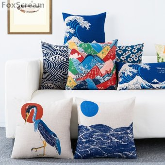 japanese floor cushions,modern Japanese fresh garden flower Cushion chair sofa bird throw pillow cover pillowcase couch cushion - intl