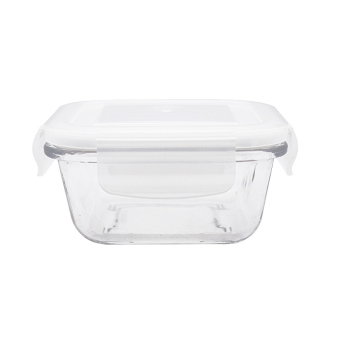Japanese-style heat-resistant tempered glass food container