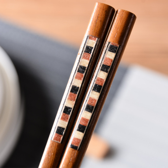 Japanese-style Iron wood pattern chopsticks