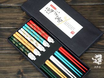 Japanese-style printed gift box environmentally friendly bamboo chopsticks