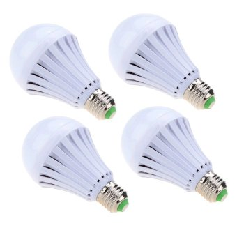 JAV 7W Intelligent Water Power Emergency Magic Light Bulb Set of 4