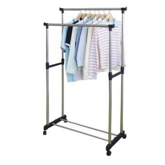 JAV Double Pole Stainless Steel Clothes Rack