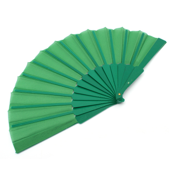 Jetting Buy Hand Fabric Folding Fan (Green) - picture 2