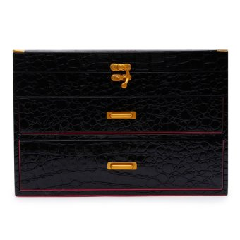 Jewelry Organizer (Black Croc/Magenta Suede) Price Philippines