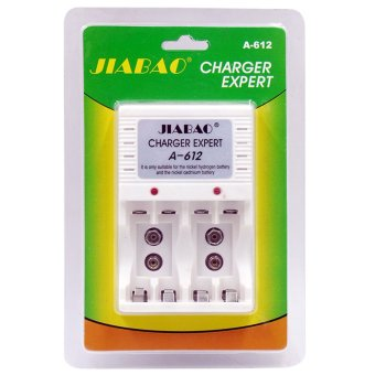 JIABAO A-612 White Digital Power Charger For Rechargeable Batteries