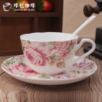 Jianyue European English afternoon tea cup and saucer bone china coffee cup