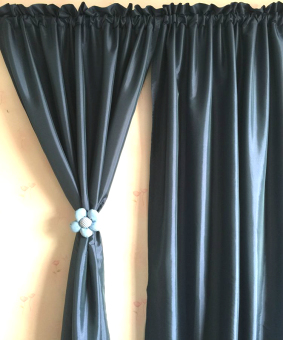 Jianyue solid bedroom living room blackout curtains half-curtain