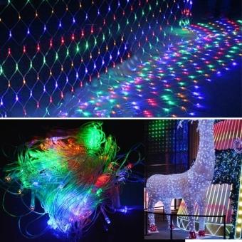 Jo.In 2M x 2M 144 leds LED Net Light Fairy Lights Christmas Xmas Party Wedding EU Plug (Multicolor)