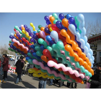 Jo.In 50Pcs Giant Latex Rubber Helium Spiral Balloons for WeddingBirthday Party Gift (Multicolor)