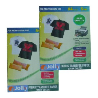 Jolly Fabric Transfer Dark A4 Paper (5's) Set of 2