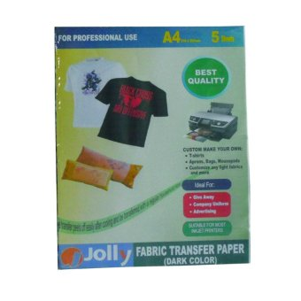 Jolly Fabric Transfer Dark Paper A4 (5's) Price Philippines