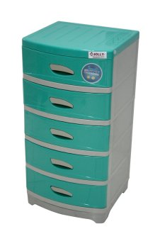 Jolly Shiny 5 Layer Aloha Drawer Green