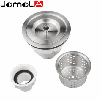 JOMOLA SUS304 Stainless Steel Kitchen Sink Drain Strainer With Filter Basket and Sealing Cover