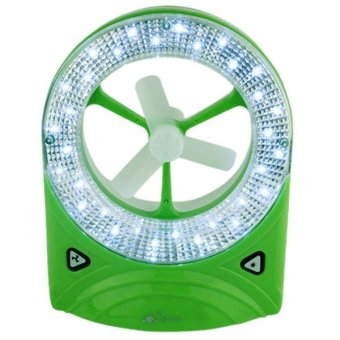 JR-5560 Rechargeable LED Light with Fan ( Green) - picture 2
