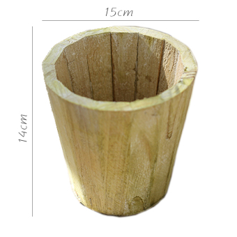Juhan barrel wood Flower Pot Flower holder