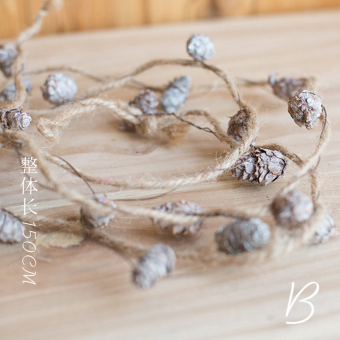 Juhan wood hanging Birch Wood Style garland