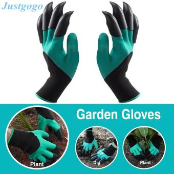 Justgogo-1 Pair Garden Gloves for Digging & Planting