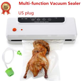Justgogo Vacuum Sealer, Multifunction Food Saver Vacuum Packaging Machine Automatic Vacuum Sealing System for Dry & Moist Foods Preservation White US Plug
