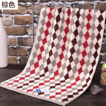 King shore g1745 cotton soft absorbent rhombus plaid towel cotton towel