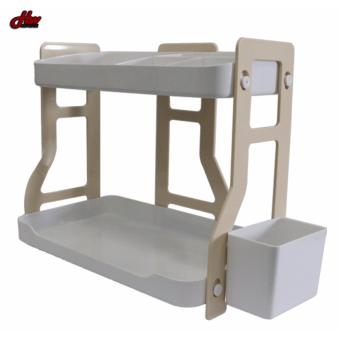 Kitchen and Bathroom Double Set of Shelves (Beige)