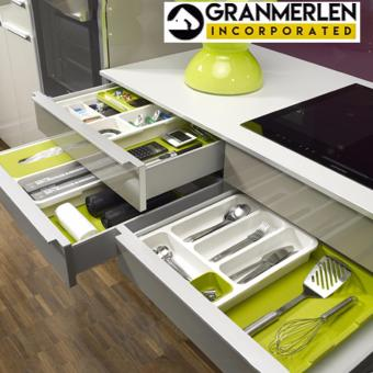 Kitchen Drawer Divider Organizer Made of ABS Plastic Good Quality
