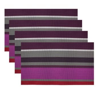 Kitchen Hub Fashion Striped Placemat Set of 4 (V-R)