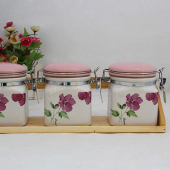 Kitchen items ceramic spice jar sealed containers