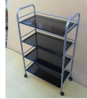 Kitchen microwave beauty rack trolley