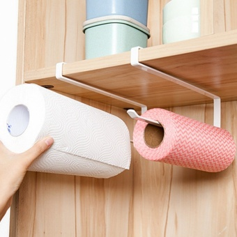 Kitchen Paper Holder Hanger Tissue Roll Towel Rack Bathroom Toilet Sink Door Hanging Organizer Storage Hook Holder Rack - intl