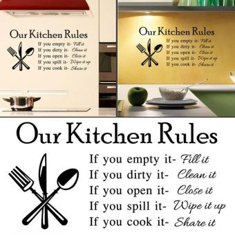 Kitchen Rules Cook Words Quote Wall Stickers - intl Price Philippines