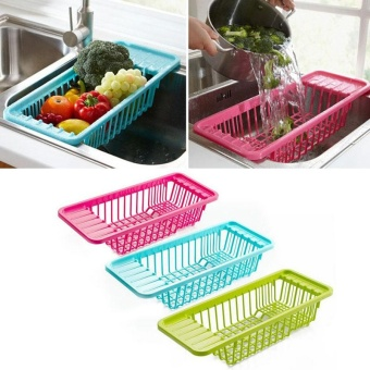 Kitchen Sink Drain Rack Vegetables Basket Storage Rack - intl