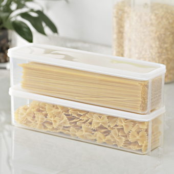 Kitchen transparent plastic storage box drawer freshness box