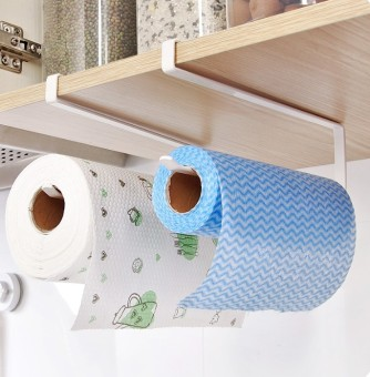 Kitchen with a paper napkin paper rack roll holder