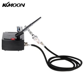 KKmoon 100-250V Gravity Feed Dual Action Airbrush Air CompressorKit for Art Painting Tattoo Manicure Craft Cake Spray Model NailTool Set - intl - 2