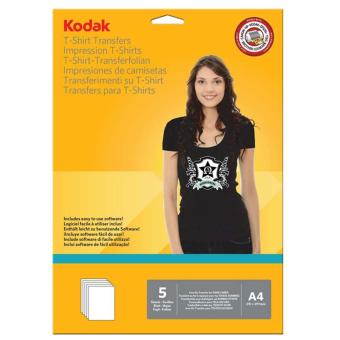 Kodak Heat Transfer Paper for Dark Color T-Shirt A4 (5 Sheets perPack )
