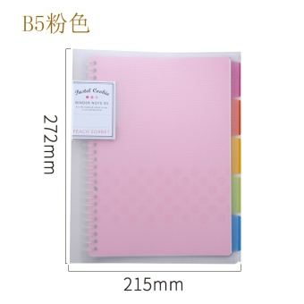 KOKUYO A5/B5 simple student loose-leaf notebook transparent notes BENSE.O