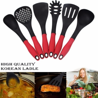 Korea 6pcs Cooking Utensil Heat Resistant Ladle (Red/Black)