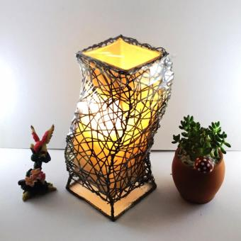 KrigKrafts, Native Nito Fiber LED Lampshade, Desktop, Curved,Brown, 10 Inch Price Philippines