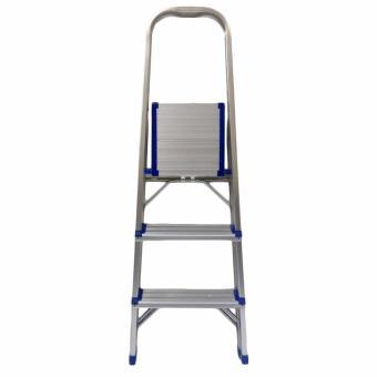 Kruger Aluminum Step Ladder, FT-3 (3 Steps) - 2