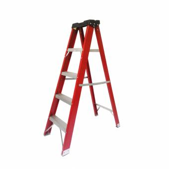 Kruger Fiberglass Single Side Ladder, F32205 (5 Steps)