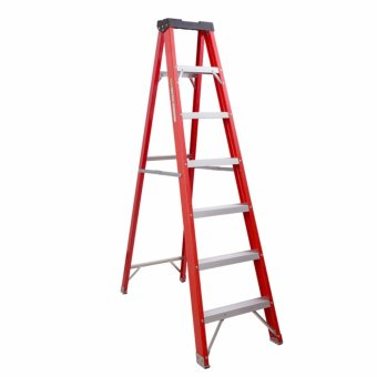 Kruger Fiberglass Single Side Ladder, F32207 (7 Steps)