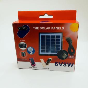 Kuku 6V 3W Solar Panel mini USB charger for android