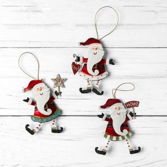 Kultura Santa Claus and Signs Ornament (Set of 3)