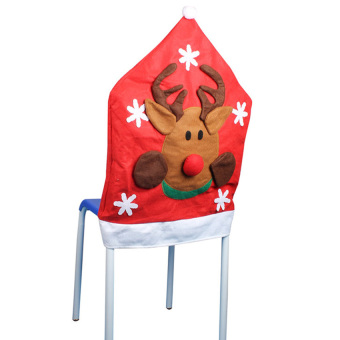 KUNPENG Christmas elk Kitchen Chair Covers - Intl - picture 2