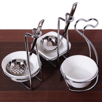 Ladel colander hot pot tableware cage ladel rack