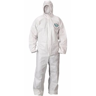Lakeland MicroMax NS Cool Suit Microporous Disposable Coverall withHood, Elastic Cuff, Medium White