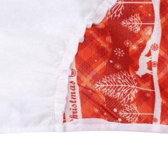 LALANG Christmas Tree Skirt Tree Tabletop Party ChristmasDecoration (Red) - intl - 4
